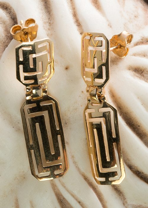 Gold earrings greek style GE0007GR