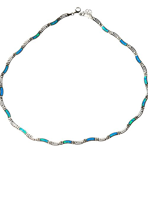 SILVER OPAL WAVY NECKLESS MAIANDROS