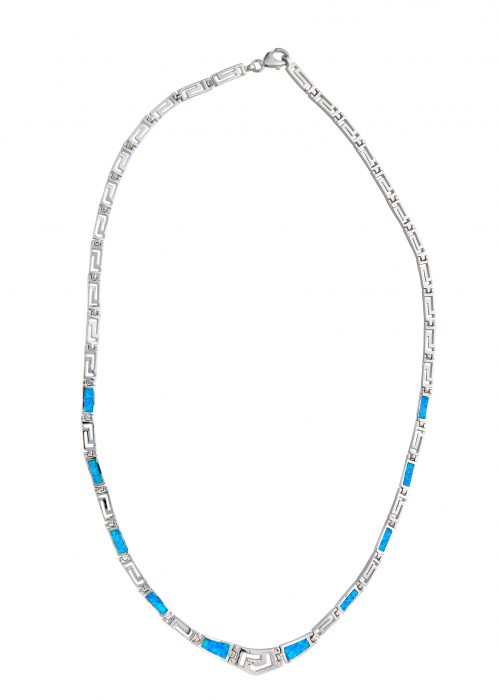 SILVER OPAL NECKLESS MAIANDROS