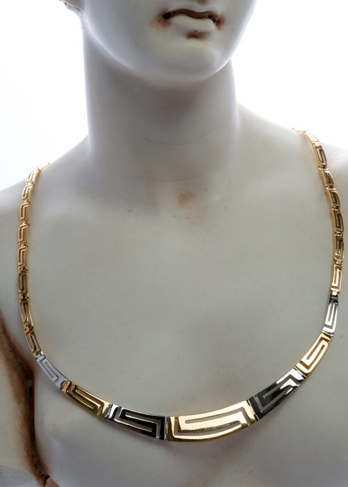WHITE AND YELLOW GOLD NECKLESS