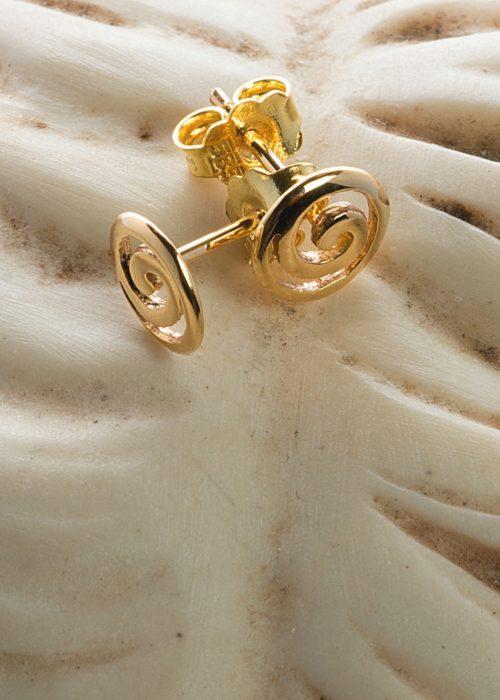 Gold Spira Symbol Earrings