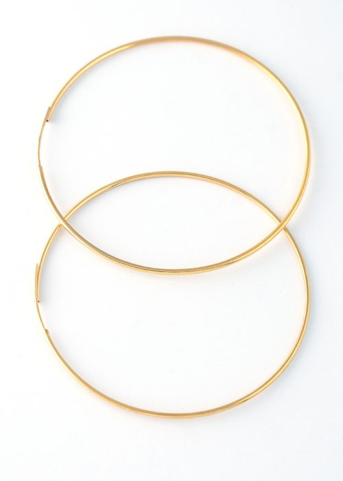 endless hoops earrings