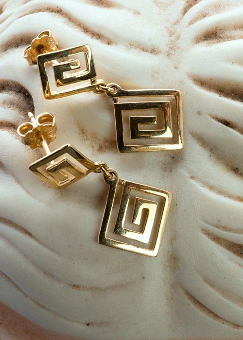 Gold lady's drop Earrings