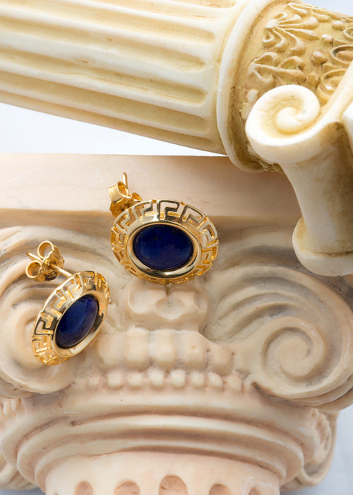 Greek style gold earrings