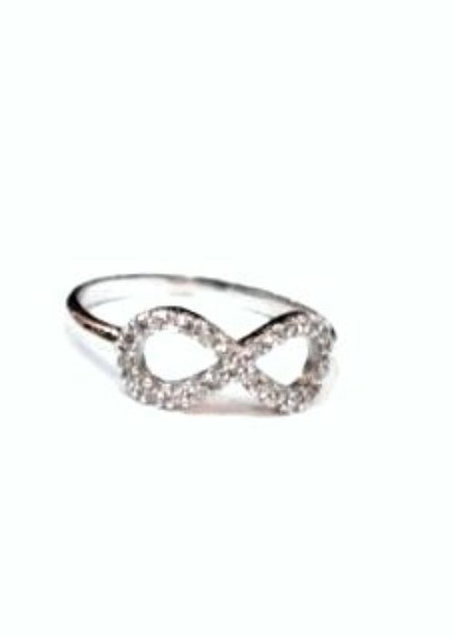 WhiteGold Ring Ιnfinity