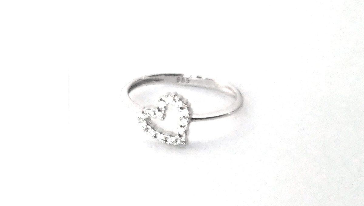 Whitegold Ring Hart