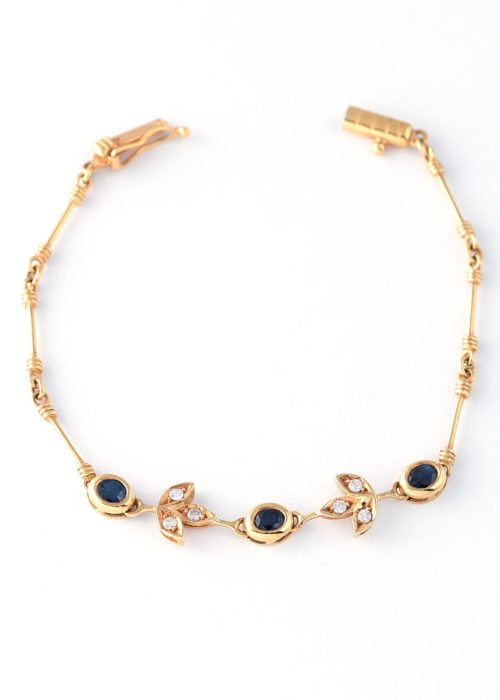 GOLD SAPHIRE-DIAMONDS BRACELET
