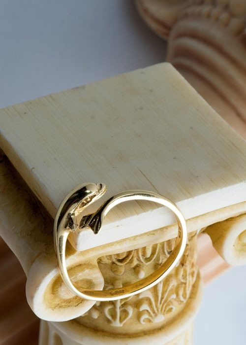 Gold 14 Carats Dolphin Ring