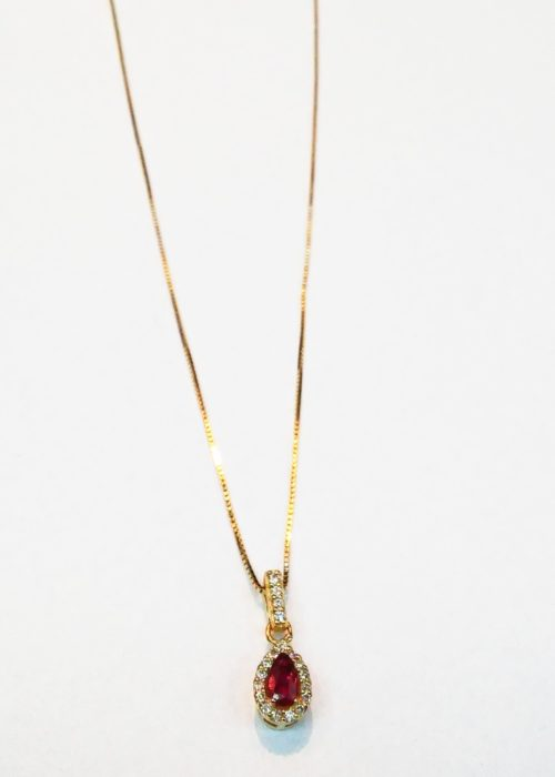 GOLD RUBY PENDANT