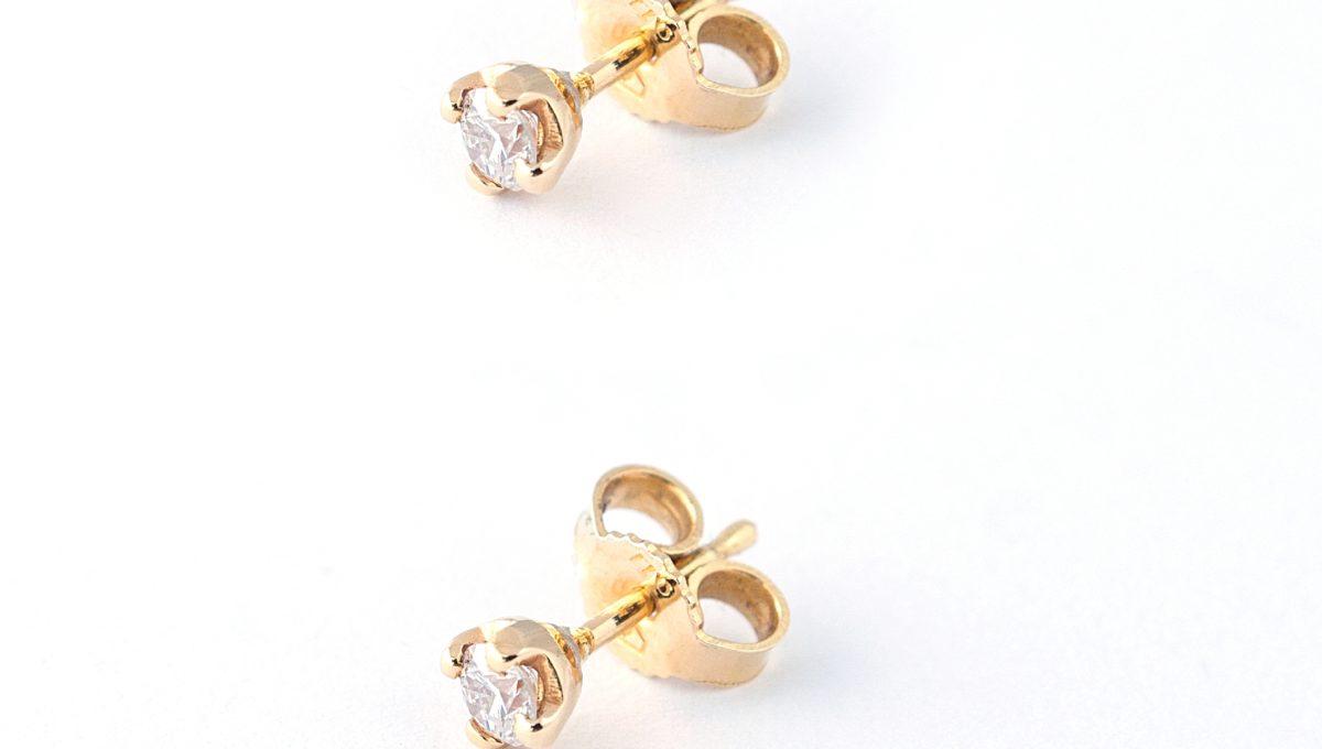 GOLD DIAMOND EARINGS- 0,28 ct.