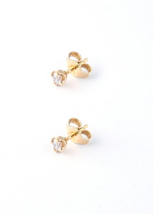 GOLD DIAMOND EARINGS- 0,28 ct.